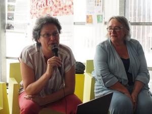 Anne Labit et Annie le Roux, lors d'une intervention aux Rencontres de Nantes